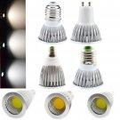 Dimmable LED COB Spotlight E26/E27/E14/GU10 Bulb 6W/9W/12W White Lamp Bright