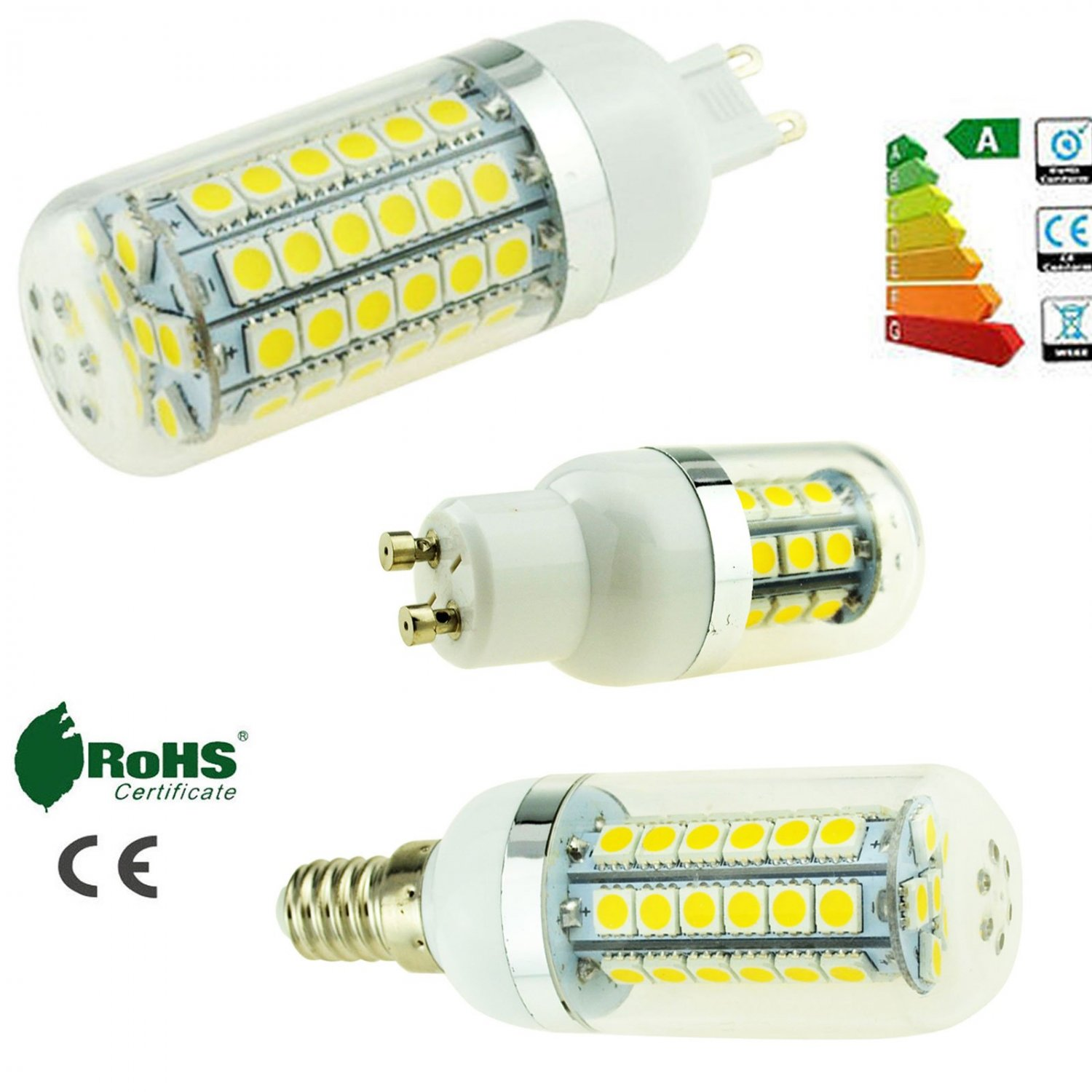 5W 9W 13W 5050 SMD LED Corn Bulb E26 E27 E12 E14 G9 B22 GU10 Bright Light Lamp