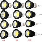 GU10/MR16/GU5.3/E27/E14 Dimmable LED Spotlight Bulb Lamps 6W 9W 12W Ultra Bright