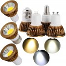 LED COB Spotlight Bulb Dimmable GU10/MR16/GU5.3/E27/E14 Light Lamp Ultra Bright