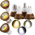 LED COB Spotlight Bulb Dimmable GU10/MR16/GU5.3/E27/E14 Light Lamp Ultra Bright
