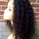 20 inches Human Hair natural black curly Full Lace Wigs 130% density