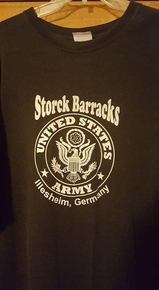 Storck Barracks t Shirt (pre-order special item) Olive Green LARGE SHORT SLEEVE