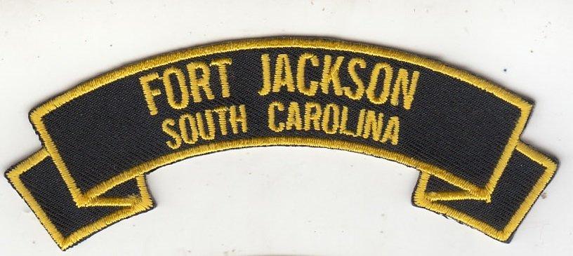 Fort Jackson SC rocker tab patch