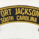 Fort Jackson SC rocker tab patch