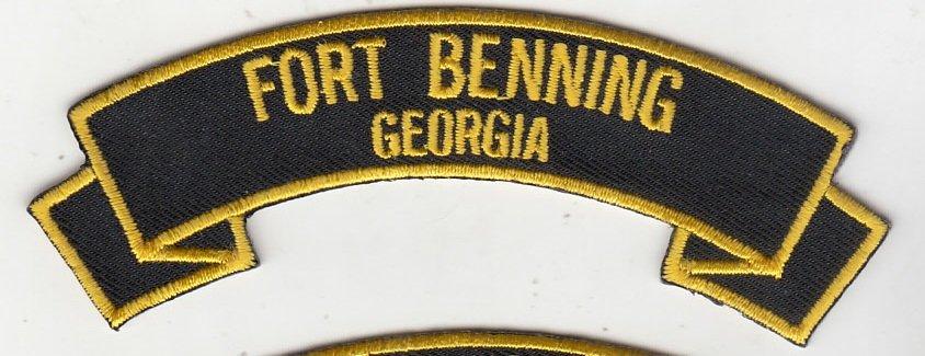 Fort Benning ,GA rocker tab patch