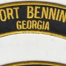 Fort Benning ,GA rocker tab patch