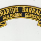 Wharton Barracks embroidered rocker tab