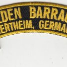 Peden Barracks (Wertheim) rocker tab patch (pre order)