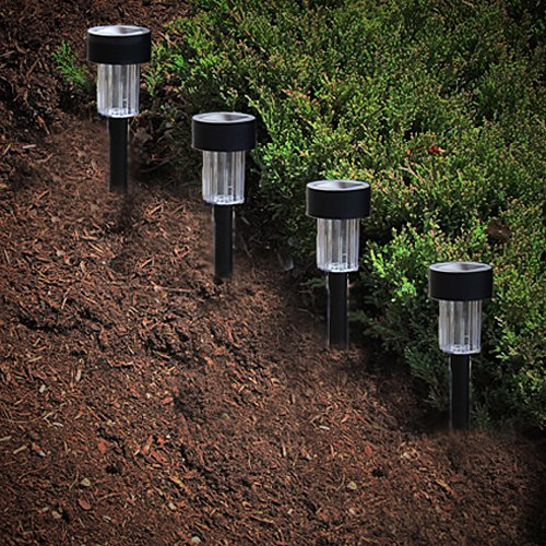 Set of 4 Solar Powered Garden Lights