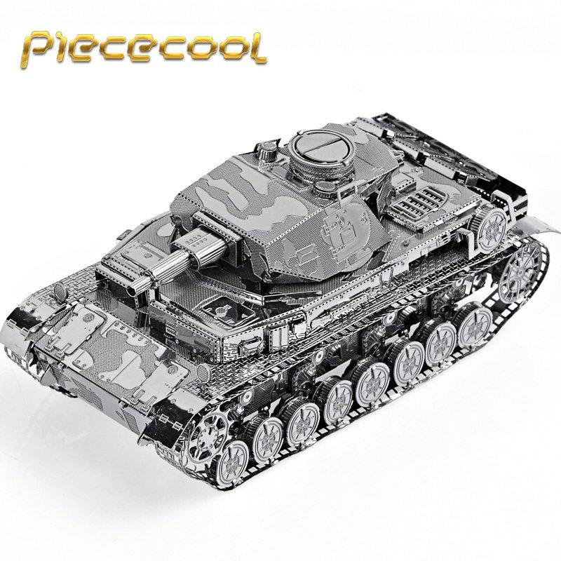 Piececool 3D Metal Puzzle German IV Tank Building Kits P037S DIY 3D Laser Cut Models Toys
