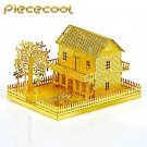 Piececool 3D Metal Puzzle Mini Villa House Building Kits P028G DIY 3D Laser Cut Models Toys