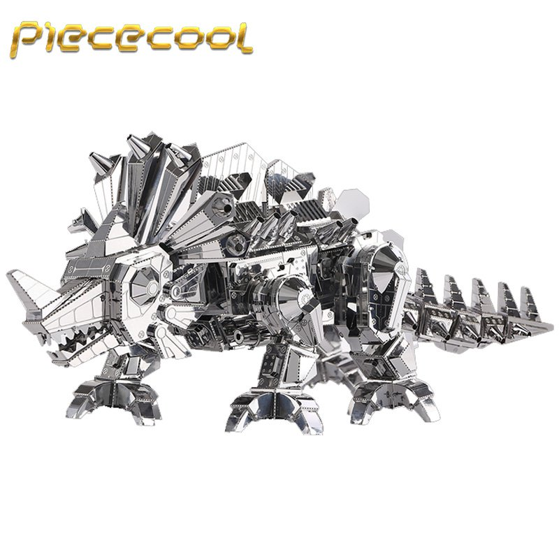 Piececool 3D Metal Puzzle Dinosaur Rock Building Kits P062S DIY 3D Laser Cut Models Toys
