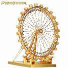 Piececool 3D Metal Puzzle London Eye Ferris Wheel Building Kits P043G DIY 3D Laser Cut Models Toys
