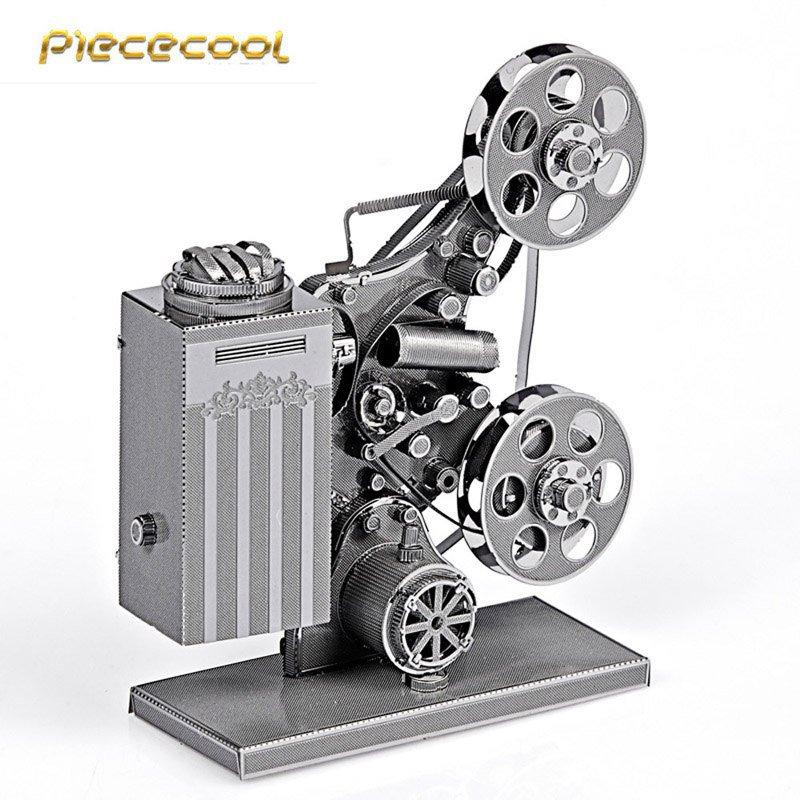 Piececool 3D Metal Puzzle Projector Building Kits P033S DIY 3D Laser Cut Models Toys