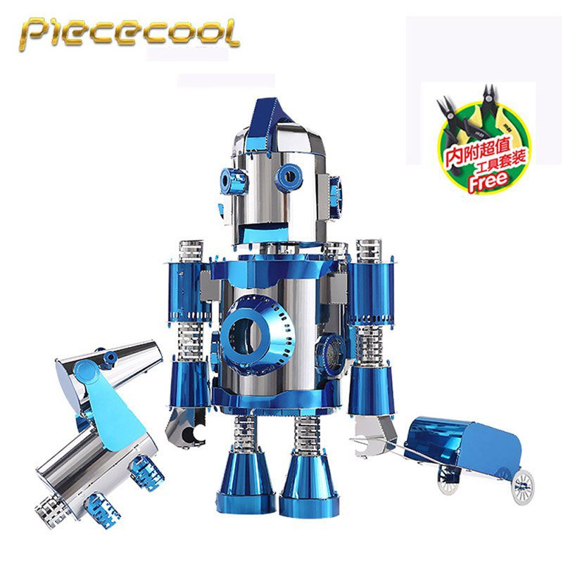 Piececool 3D Metal Puzzle The Travel Of Hello Cool Building P064BS DIY 3D Laser Cut Models Toys