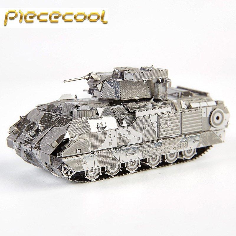 Piececool 3D Metal Puzzle M2A2 Bradley IFV Tank Building Kits P041S DIY 3D Laser Cut Models Toys