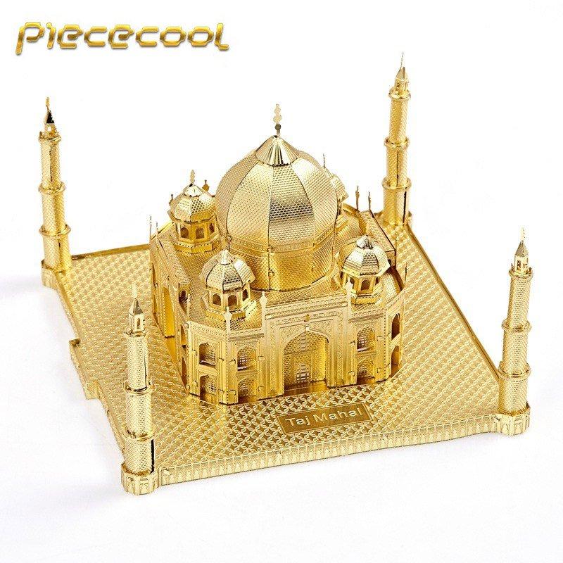 Piececool 3D Metal Puzzle Taj Mahal Building P007G DIY 3D Laser Cut Models Toys - Gold