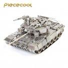 Piececool 3D Metal Puzzle Russia T-90A Tank Building Kits P047S DIY 3D Laser Cut Models Toys