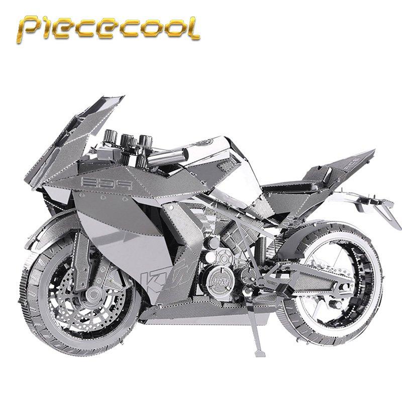 Piececool 3D Metal Puzzle Motorcycle I Building Kits P046S DIY 3D Laser Cut Models Toys For Audit