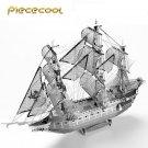Piececool 3D Metal Puzzle The Flying Dutchwan Boat P040S DIY 3D Laser Cut Models Toys For Audit