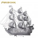 Piececool 3D Metal Puzzle Black Pearl Pirate Boat P044S DIY 3D Laser Cut Models Toys For Audit