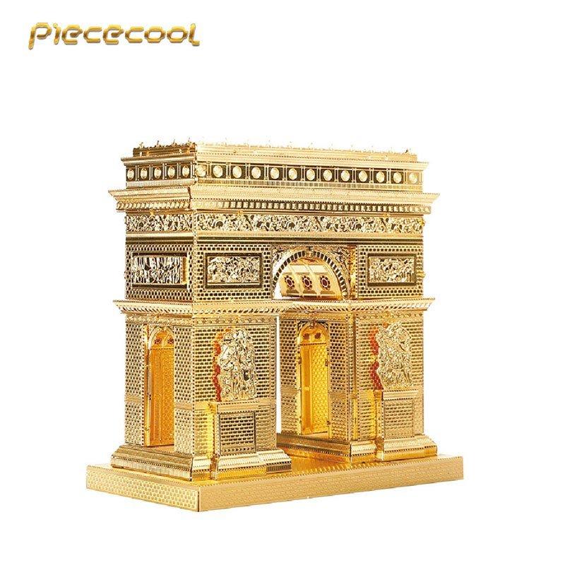 Piececool 3D Metal Puzzle Arc De Triomphe P008G DIY 3D Laser Cut Assemble Models Toys For Audit
