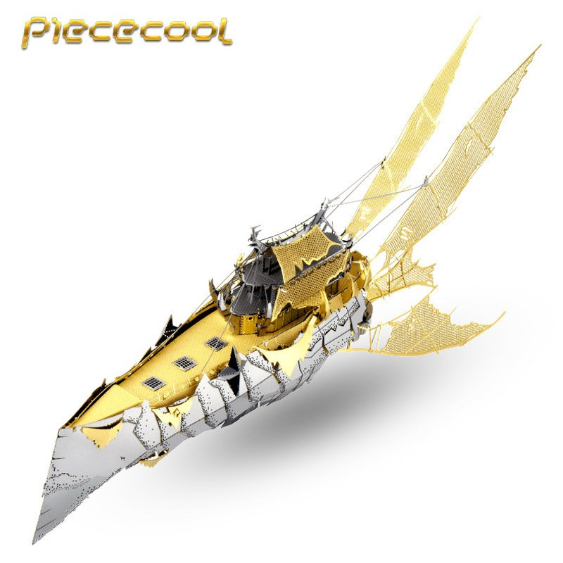 Piececool 3D Metal Puzzle Throne Of Elves Mayra's Warship P074GS DIY 3D Laser Cut Toys