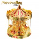 Piececool 3D Metal Puzzle Merry GO Around Carousel Model Kit P082-GRN DIY Laser Cut Jigsaw Toys