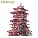 Piececool 3D Metal Nano Puzzle Yuewang Tower Building Model Kit P089-RKS DIY Laser Cut Jigsaw Toys