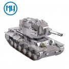 MU 3D Metal Puzzle War 2 Russia KV 2 Tank Model YM-N022 DIY 3D Laser Cut Jigsaw Toys For Audit