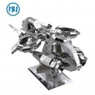 MU 3D Metal Puzzle Starcraft 2 Terran Banshee Model Kits DIY 3D Laser Cut Jigsaw Toys For Audit