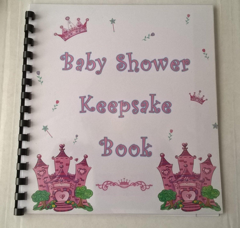 baby shower girl keepsake book