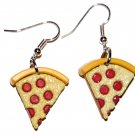 Pizza Slice Shaped Plastic Fast Food Dangle Earrings