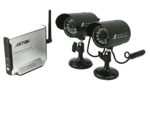 Wireless Security Surveillance Camera Kit Indoor/Outdoor Set of 2
