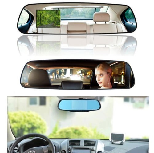 HD Dash Cam Video Recorder Rearview Mirror Car Camera Vehicle DVR New