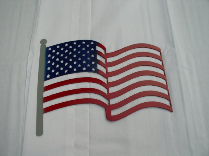 American Flag Metal Art