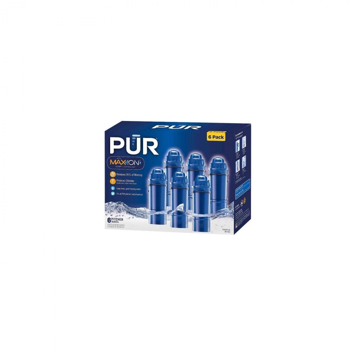 PUR Pitcher Replacement Filter, 6 Pack NEW