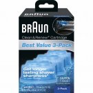 Braun Clean & Renew Cartridges, 3 pk NEW