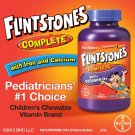 Flintstones Complete Chewable Vitamin Tablets, 200 Count NEW