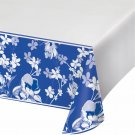 "Artstyle 54"" x 108"" Table Covers, 3 ct. - Blue Flower NEW In Package"