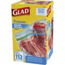 Glad Freezer 1-Gal. Plastic Food Zipper Bags, 28-Count, 4-Pk, 112 Count NEW