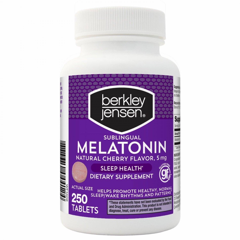 Berkley Jensen QD Melatonin 5 mg., 250 ct