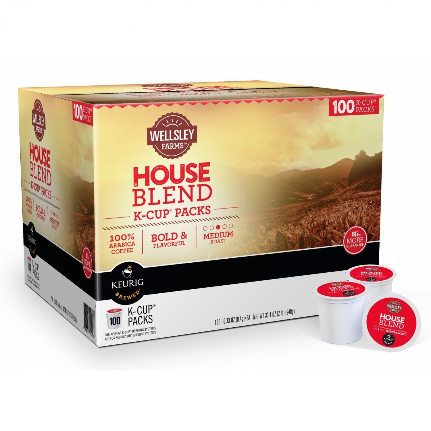 Wellsley Farms House Blend K-Cup Pods, 100 ct. NEW