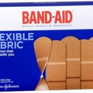 BAND-AID Flexible Fabric All One Size Adhesive Bandages 100 Each NEW