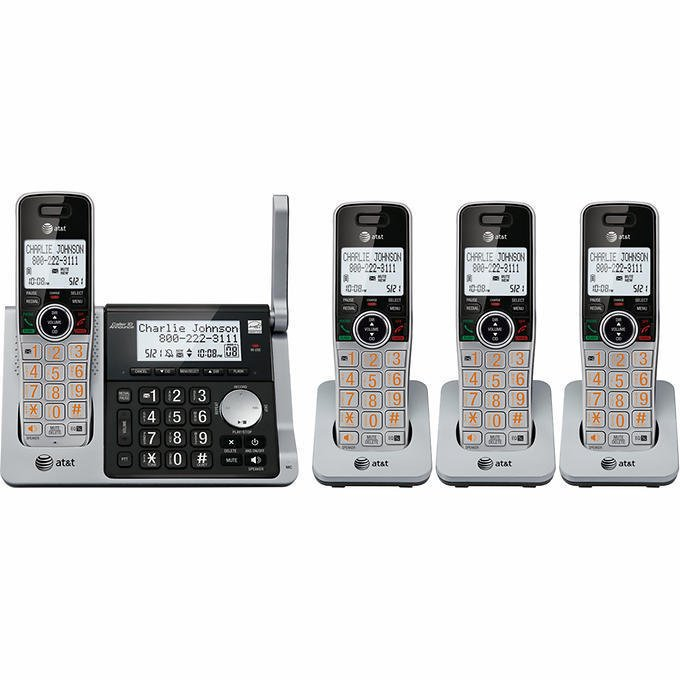 AT&T CL83464 DECT 6.0 Digital 4 Handset Cordless Phone System BRAND NEW