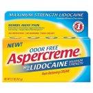 Aspercreme Lidocaine Pain Relieving Creme - 2.7 oz  BRAND NEW