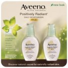 Aveeno Positively Radiant Daily Moisturizer, 2 pk./4 oz. NEW