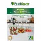 FoodSaver 3-Pc. Fresh Containers Set BRAND NEW & FREE SHIPPING