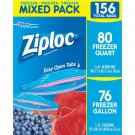 Ziploc Mixed Freezer Pack, 156 ct